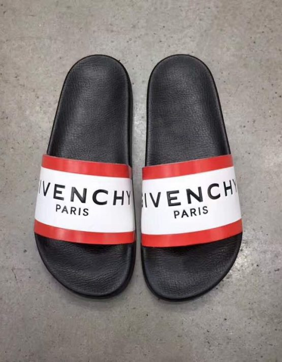 GIVENCHY SLIPPERS RED WHITE
