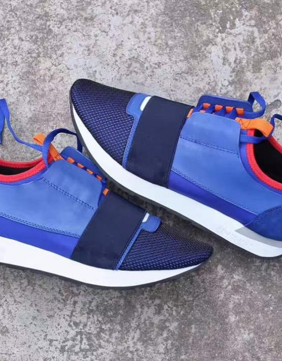 BALENCIAGA RUNNERS BLUE ORANGE