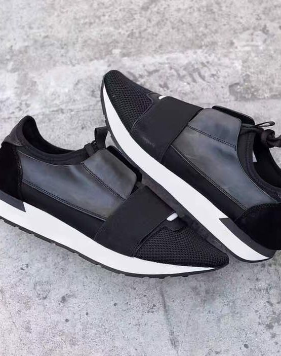 black and white runners