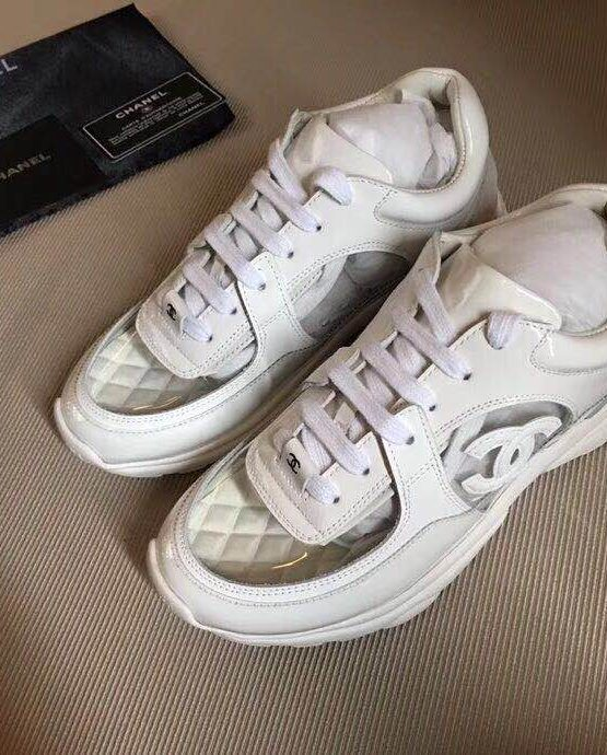 CHANEL TRANSPARENT SNEAKERS WHITE