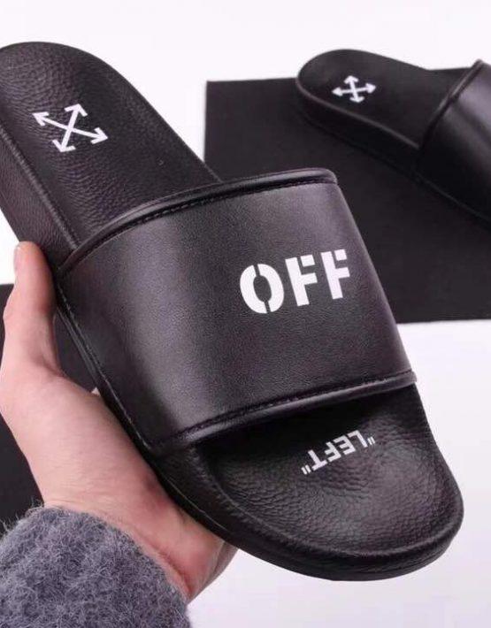 Off-White Black Slippers – billionairemart