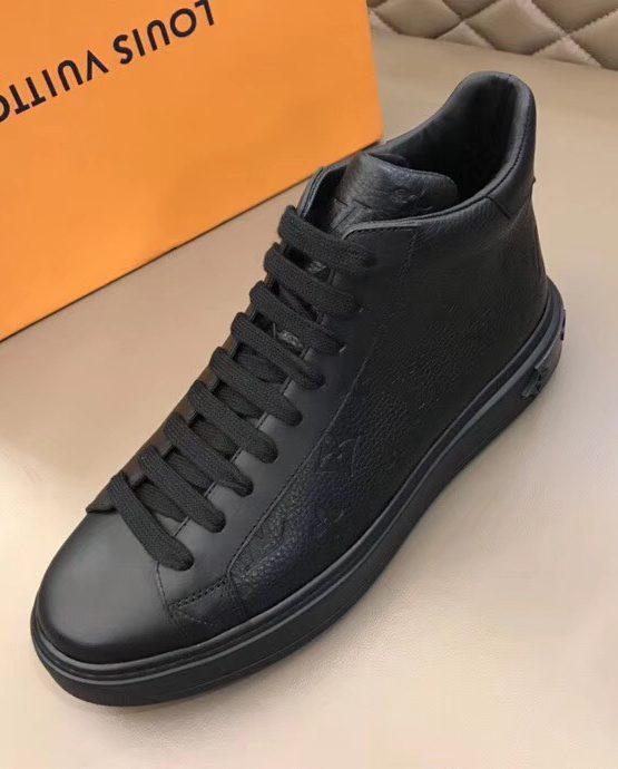 LOUIS VUITTON CLASSIC BLACK HIGH TOP